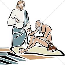 Blind Man At Bethsaida Jesus Heals The Blind Man By Bethsaida Pool New Testament Clipart