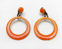 1970s earrings seventies hoops etsy