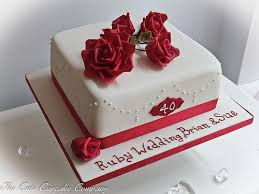 ruby wedding cakes ruby wedding ruby wedding cake 1987907 weddbook