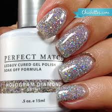 lechat perfect match hologram diamond u2013 chickettes soak off gel