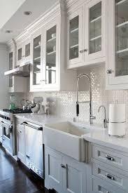 Backsplash Ideas For White Kitchens White Kitchen Backsplash Intended For Stupefyi 19255