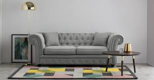 Traditional Chesterfield Sofa by Branagh 2 Seater Chesterfield Sofa Pearl Grey Made Com