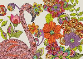 flamingo puzzle wall mural u0026 flamingo puzzle wallpaper wallsauce