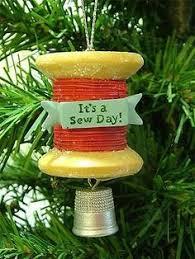 sewing machine german pewter christmas tree ornament christmas