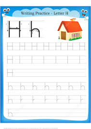 letter h is for home handwriting practice worksheet free