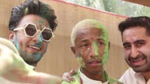 Pharrell Meme - pharrell williams doesn t seem too happy celebrating holi for the