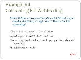 W 4 Withholding Table Bernard J Bieg And Judith A Toland Ppt Download