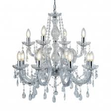 Marie Therese Crystal Chandelier Marie Therese Chrome 5 Light Chandelier With Crystal Drops