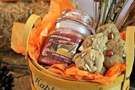 fall gift baskets apple cinnamon cookies