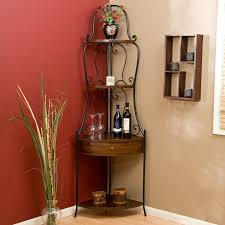 furniture metal corner wine cabinet with wood drawer stunning