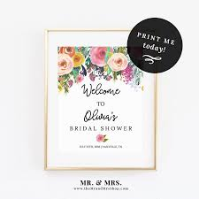 wedding welcome sign template editable floral welcome sign template instant printable