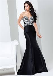 mermaid sweetheart neckline black taffeta beaded evening prom dress