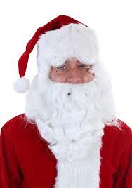 santa beard deluxe santa claus wig and beard set