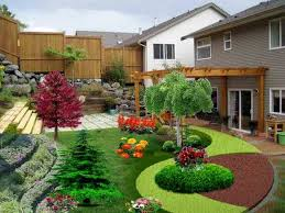 best plants for front tard landscaping ideas with gray color house