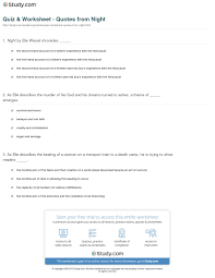 quotes about death camps quiz u0026 worksheet quotes from night study com
