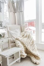 knit home decor chunky knit blankets make or buy for your home the country