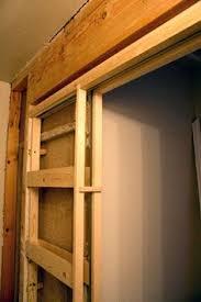 Install Basement Door by How To Build A Pocket Door Pocket Doors Doors And Drywall
