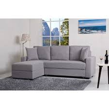 aspen ash convertible sectional storage sofa bed free shipping