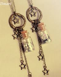 wish bottle necklace images Glitter stars glass wish bottle pendant necklace special fashions jpg
