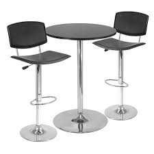 Garpen Bar Table And 4 by Stool Amerihome Vintage Style Soda Shop Adjustable Height Bar