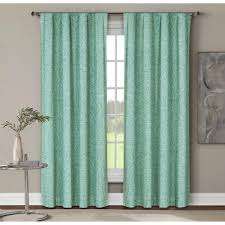 Dusty Curtains Window Elements Semi Opaque Leila Printed Cotton Wide 96 In
