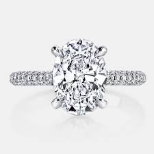 oval cut engagement rings chelsea by jean dousset starting at 13 000 with a 1 carat