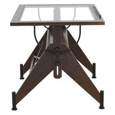 Oak Drafting Table by Studio Designs Aries Glass Top Drafting Table Sonoma Brown Clear