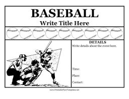 baseball flyer png
