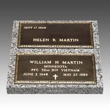 grave marker companion bronze grave marker