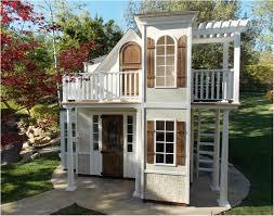 backyards impressive playhouses for backyard modern backyard
