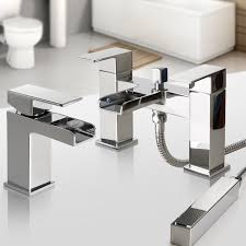 bathroom taps chrome basin mixer bath filler shower deck waterfall