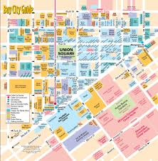 San Francisco Neighborhood Map by Map Of Union Square San Francisco Michigan Map