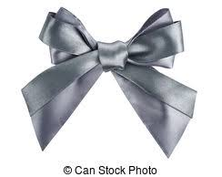 gray ribbon gray ribbon bow like a gift pictures search photographs and photo