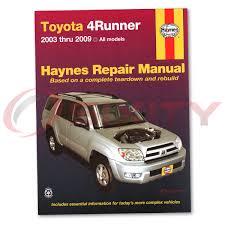 toyota 4runner repair toyota 4runner haynes repair manual sport limited sr5 shop service