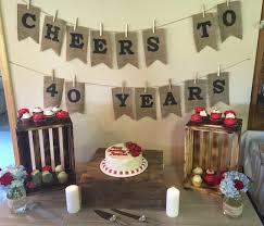 40th wedding anniversary ideas 40th wedding anniversary for and http www
