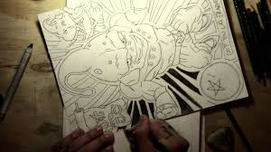 drawing ideas dragon ball z majin buu bluddy pencil style youtube