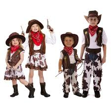 cowboy cowgirl childrens kids boys u0026 girls fancy dress costume