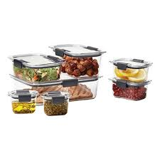 Food Storage Container Sets - rubbermaid brilliance 14 piece food storage container set sam u0027s club