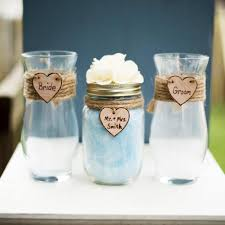Rustic Vases For Weddings Personalized Rustic Heart Bride U0026 Groom Shabby Chic Mason Jar Vase