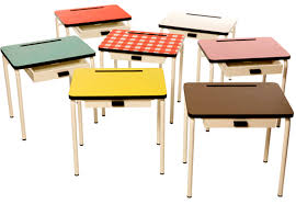 Small Child Desk Retro School Desks And Chairs For Study Space Kidsomania