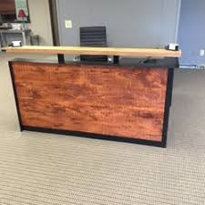 Reclaimed Wood Reception Desk Onesource Office Furniture 57 Photos Office Equipment
