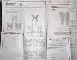 sewing pattern simplicity home 9682 window treatments design your