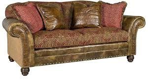 Gold Fabric Sofa Leather Sofa Black Leather Sofa With Fabric Cushions Bernhardt