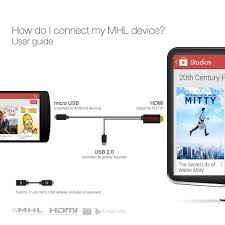 how to connect android phone to tv mhl cable micro usb to hdmi tv adapter for phones tablets