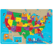 Us Map Of The United States by Amazon Com Educational Insights U S A Foam Map Puzzle Toys U0026 Games