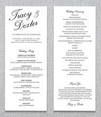 wedding ceremony program wedding ceremony phlet wedding ceremony program template 31
