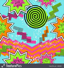80s design abstract patterns retro 80s comic pattern background stock