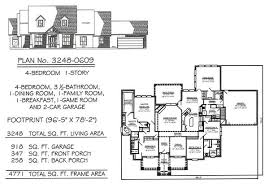 Game Room Floor Plans 4 Bedroom 1 Story 2901 3600 Square Feet