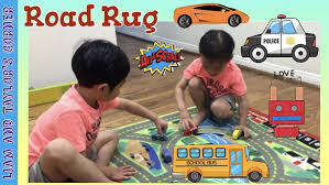 melissa u0026 doug road rug unboxing and play time with toy wooden
