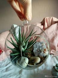 Glass Globes For Garden Hanging Glass Orb Terrariums Indoor Plant Hanging Pots Candle